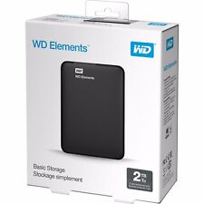 New WD Elements 2 TB USB 3.0 External Portable Hard Drive 2TB for PS3 4 PC Mac