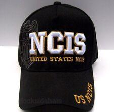 N.C.I.S. Cap/Hat Black New U.S.Navy STYLE 2 *Free Shipping*