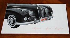 BMW 502 brochure Prospekt, 1955