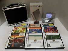 Nintendo DS Lite Game System - Silver with Games,Case And Accessories Lot EXC