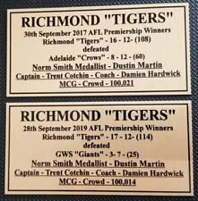 2019 0r 2017 Richmond Premiers Gold Plaques F/Post