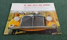 SIATA 850 SPRING BROCHURE 1969 DUTCH LARGE COLOUR FOLDER