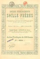 Anciens Etablissements Soille Freres, accion, 1924 (Siege: Bruxelles, Maritime)
