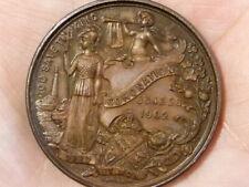 1902 Bronze EDWARD VII Coronation Fattorini Medal 38mm #T2316
