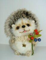 """OOAK Artist teddy bear hedgehog 8"""""""