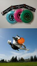 Dog Doggy Puppy Pet Flying Disk Disc Saucer Frisbee plastic throwing play toy