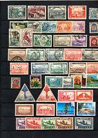 47 timbres anc. colonies : Tchad , Gabon , Oubangui , Algérie ,neufs aérien Guin