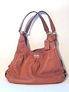 Genuine Coach Hand Bag Baguette Beige Leather Pat 5722126 No. J1271-21225