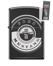 Zippo 1151 Ford Mustang Black Ebony Finish Lighter + FLINT PACK