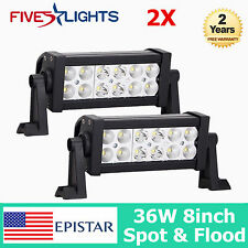 8inch 36W EPISTAR LED Work Light Bar COMBO Beam Driving 4WD Offroad Truck Jeep 7