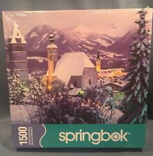 "New Sealed 1500 PC JIGSAW PUZZLE Springbok Village Alpin Alpine 2006 29"" x 36"""