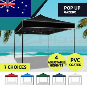 3x3M Gazebo Tent Marquee Folding Camping Canopy Outdoor Tents Wedding Waterproof