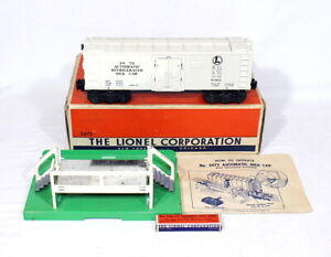 Postwar Lionel 3472 Operating Milk Car~Complete~w/Nice OB & Instructions
