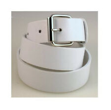 New Plain Leather Belt Snap-On Removable Roller Buckle Solid Unisex Mens Womens
