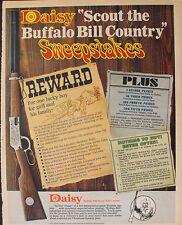1969 Scout Buffalo Bill Daisy Western BB Gun Rifle Toy Memorabilia 10 x 12.5 AD