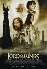 LORD OF THE RINGS TWO TOWERS MOVIE POSTER 2 Sided ORIGINAL FINAL 27x40