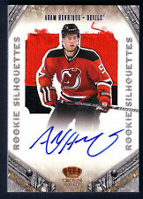 ADAM HENRIQUE 11/12 CROWN ROYALE ROOKIE SILHOUETTES AUTO/PATCH RC 58/99