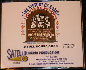 THE HISTORY OF RADIO - CD - Jack Benny, Amos 'n' Andy, Bob Hope Baby Snooks