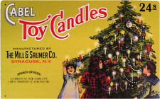 Cabel Toy Candles Christmas Tree Holiday Winter Song Music Metal Sign