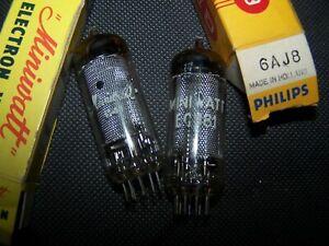 ECH81 / 6AJ8 tubes Telefunken and Philips NOS