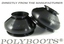 2x Polyboots Ball Joint and Tie Rod End Dust Boots 15x30x23 mm Replacement Boots