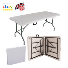 1.8M 6FT Heavy Duty Folding Table Portable Plastic Camping Garden Party Trestle