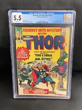 Journey into Mystery With Thor #105 CGC 5.5 (Marvel 1964) Stan Lee, Jack Kirby