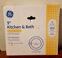 """GE 9"""" Kitchen & Bath Warm White Round Fluorescent Bulb FC9 T9 Circline 30 watt"""