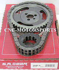 SA GEAR 78100-9R 250 DOUBLE ROLLER TIMING CHAIN SET 9 KEYWAY SB CHEVY 350 400