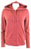 EDDIE BAUER Womens Hoodie Sweater Size 14 Medium Burgundy Cotton  KV23