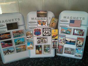 Route 66 Fridge Magnet Mega Set. Americana, USA. Gift Idea. 28 Pieces