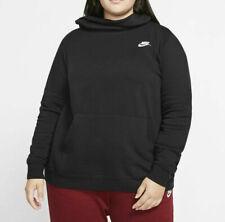 Nike Women's NSW Fleece Varsity Plus Hoodie University Black Size 2x