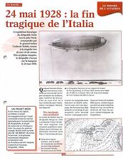 Umberto Nobile Dirigeable rigid airships Italia North Pole Nord FRANCE FICHE