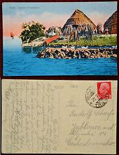 Grado – Capanne di pescatori, viaggiata 1929
