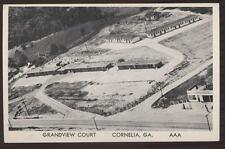 Postcard CORNELIA GA Grandview Court Aerial View