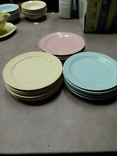 Lu-Ray 61/2 Bread Plates Lot 18 Plates Green Yellow Pink