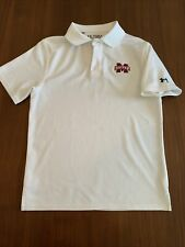 Under Armour Mississippi State University Bulldogs youth small polo white dryfit