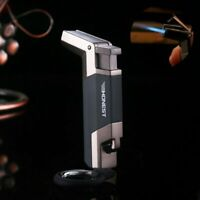 Metal Cigar Lighter Torch Lighter Cigar Punch Cutter Windproof KeyRing Spray Gun