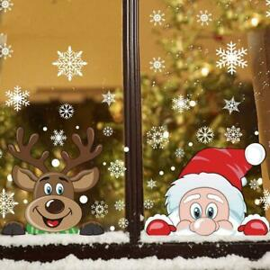 Christmas Sticker Set Double-sided Color Snowflake Glass Sticker Window Decor