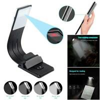 Magnetic Clip USB Rechargeable LED Book Lamp Flexible Clip On Night Reading  US