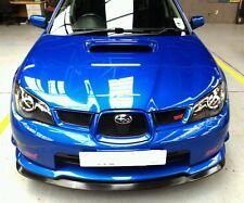 Subaru Impreza Hawkeye STi VLtd Front Splitter Lip 06-07 PU Plastic Glossy Black
