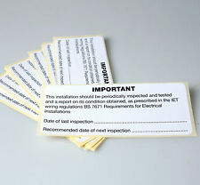 PERIODIC INSPECTION LABELS, SELF ADHESIVE VINYL PACK OF 25