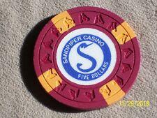 $5 Sandpiper Casino Chips New (Total 200)