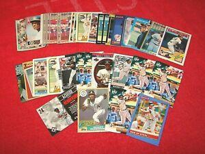 RICKEY HENDERSON YANKEES ATHLETICS HOF LOT OF 43 CARDS (18-61)