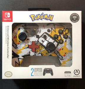 Official PowerA Enhanced Wireless Switch Controller [ Pokemon Graffiti ] NEW
