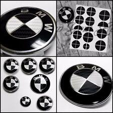 BMW Carbon Fiber Look Badge Roundel Overlay 1 2 3 5 6 X M Z F Series BLACK WHITE