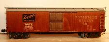 O SCALE WOODEN BOX CAR BOYERTOWN CASKET CO #3960F TWO RAIL