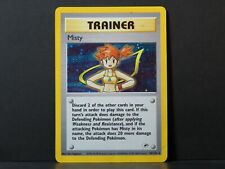 (Holo) Misty 18/132 - Gym Heroes Pokemon Card (Played)