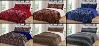 3 Piece Safari Leopard Reversible Warm Flannel Plush Sherpa Borrego Blanket