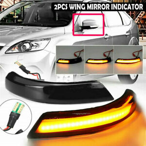 2x For Ford Focus Mk2 Mk3 Mondeo Dynamic LED Mirror Indicators Turn Signal Light